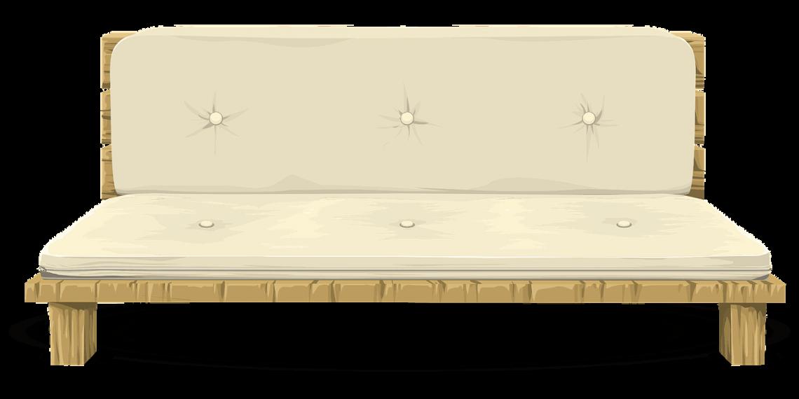 Enkle linjer og god liggekomfort med en futon